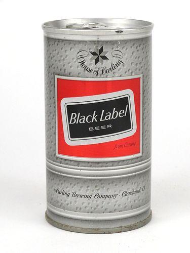 1968 Black Label Beer 12oz Tab Top T42-28