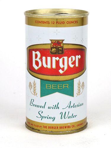 1968 Burger Beer 12oz Tab Top T50-37.1