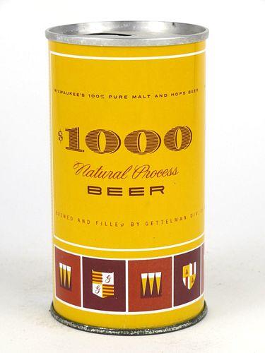 1966 $1000 Beer 12oz Tab Top T104-26