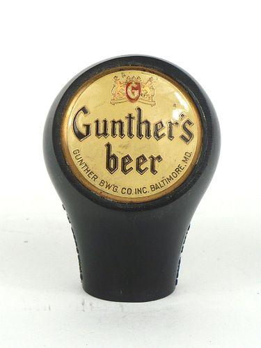 1943 Gunther's Beer  Ball Knob BTM-372