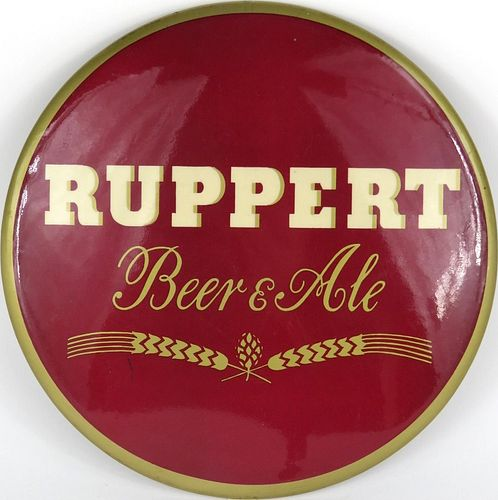 1940 Ruppert Beer & Ale  Button Sign