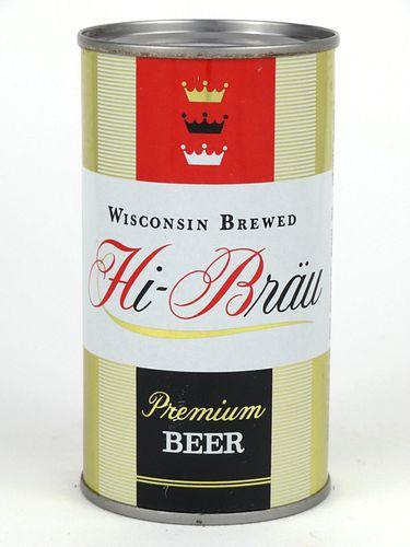 1960 Hi-Brau Premium Beer 12oz Flat Top 81-39