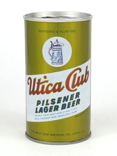 1966 Utica Club Pilsener Lager Beer 12oz Tab Top T132-23
