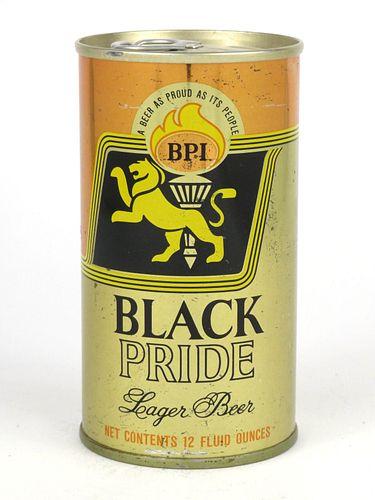 1969 Black Pride Lager Beer 12oz Tab Top T43-02