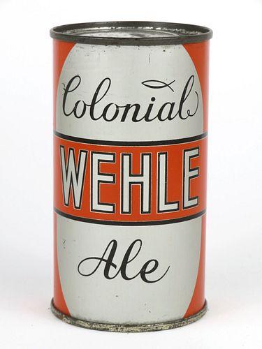 1938 Wehle Colonial Ale 12oz Flat Top Lilek-866