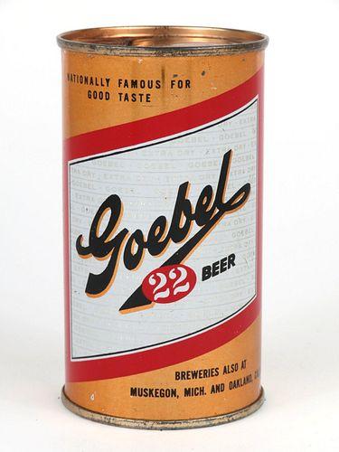 1953 Goebel 22 Beer 12oz Flat Top MBC: 36-20.1