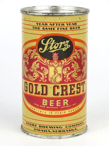 1948 Storz Gold Crest Beer 12oz Flat Top 137-16
