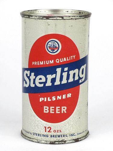 1953 Sterling Pilsner Beer (Keglined Block) 12oz Flat Top 136-35.1