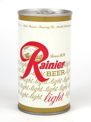 1969 Rainier Light Beer 12oz Tab Top T111-39.1