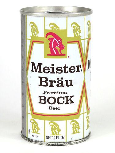 1969 Meister Brau Bock Beer 12oz Tab Top T92-27