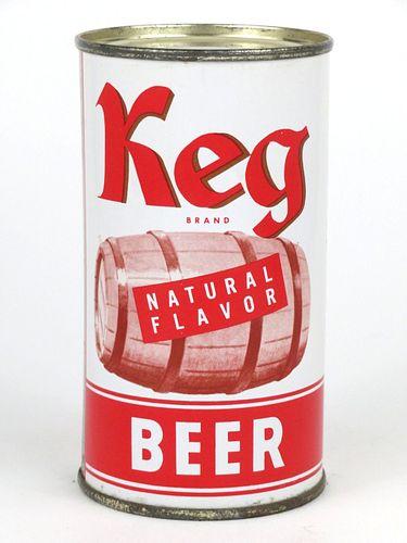 1957 Keg Beer 12oz Flat Top 87-24
