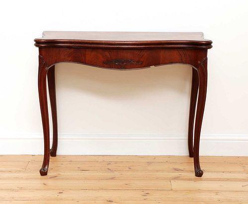A George III Hepplewhite period mahogany card table,