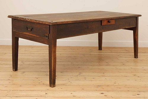 A French provincial kitchen prep table,