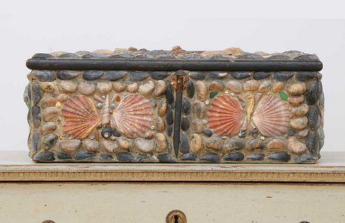 A shell-covered box,