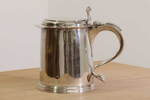A William and Mary silver tankard,