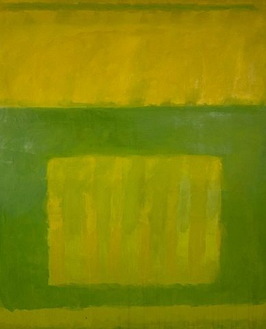 Perle Fine Oil on Canvas Striated Yellow