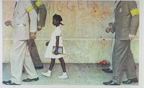 Norman Rockwell Collotype Ruby Bridges