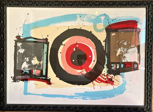 Ralph Steadman William S Burroughs Signed Lithograph, Something New Has Been Added