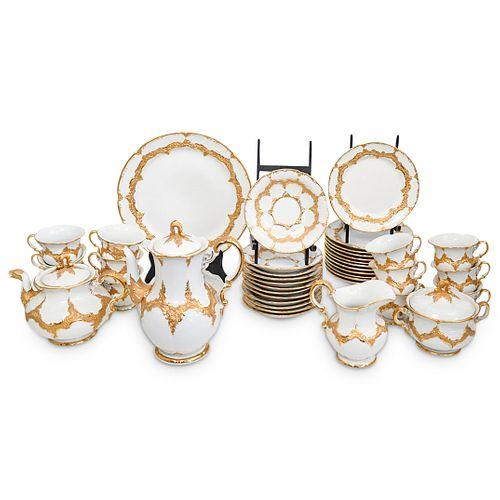 (41 Pc) Antique Meissen Porcelain Coffee/Tea Set