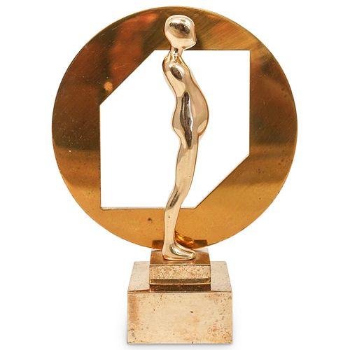 Ernest Trova (American.1927-2009) Cut Circle Figure Bronze