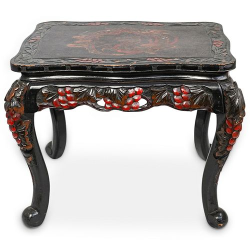 Japanese Carved Lacquered Table