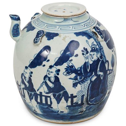 Chinese Blue & White Glazed Teapot