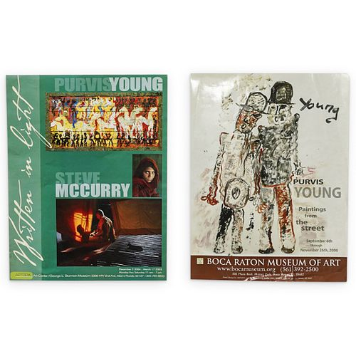 (2Pc) Purvis Young (American 1943-2010) Exhibition Posters