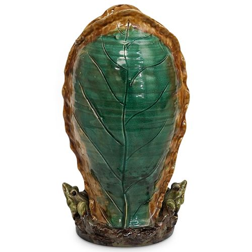Large Glazed Majolica Vase