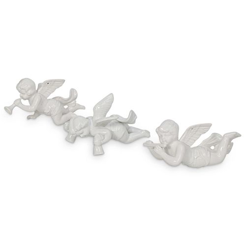 (3 Pc) Fitz and Floyd Angel Porcelain Ornaments