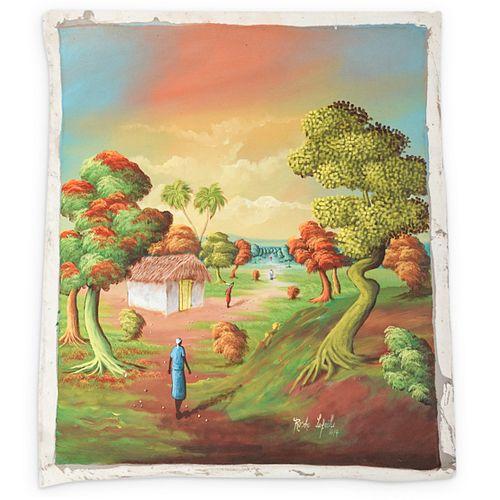 Rosho Lafaille (Haitian) Painting On Canvas