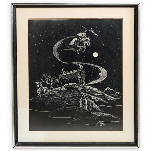 Daniel Valdes Signed Art Print
