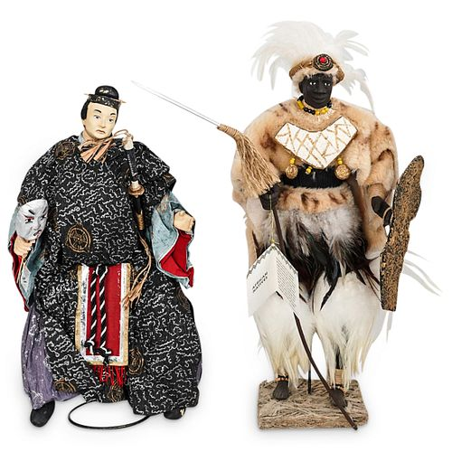 Pair of Mache Mystique Figural Decorations