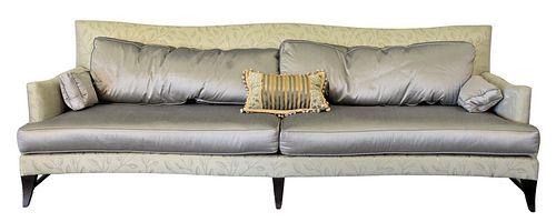 "Donghia Custom Sofa, having custom silk upholstery, height 32 inches, length 8' 6"". Provenance: Waterfront Estate, Stamford, CT."