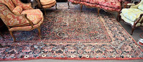"Sarouk Oriental Carpet, 10' 6"" x 17', circa 1940."