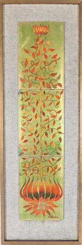Ronald Oleski (20th c) Enameled Copper Plaque
