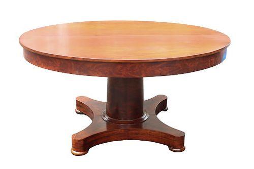 Biedermeier Wood Veneer Extending Dining Table