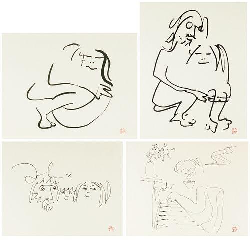 Grp: 4 John Lennon Lithographs