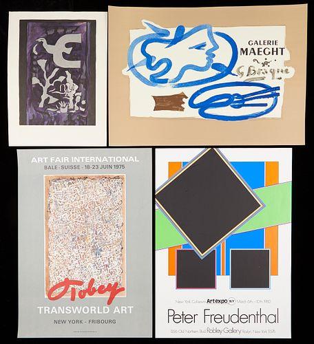 Grp: 7 Prints & Posters Mark Tobey, Braque, Chagall, Lautrec