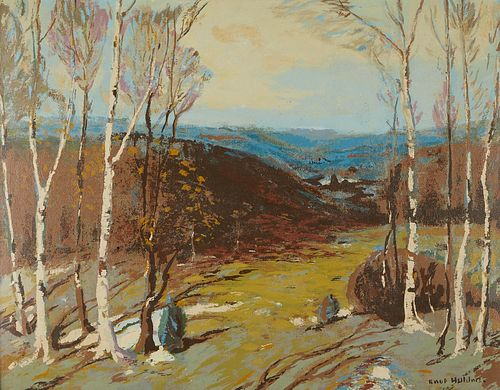 Knute Heldner Print Landscape with Birch Trees