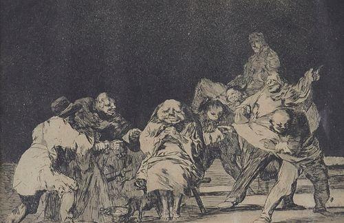 """Francisco Goya """"Loyalty"""" Etching"""
