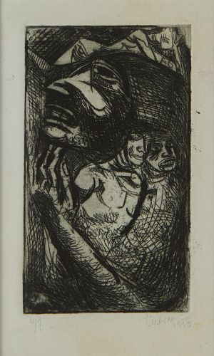 Early Jose Luis Cuevas Lithograph Figures