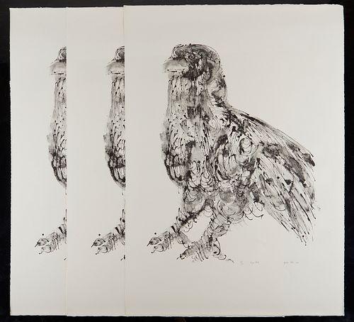 """Grp: 3 Misch Kohn Lithographs """"Large Bird"""""""