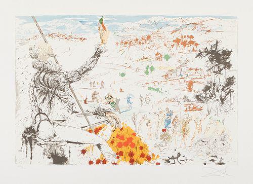 "After Salvador Dali ""Golden Age"" Color Lithograph 1982"