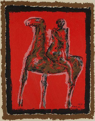 Marino Marini Serigraph Figure on Horseback