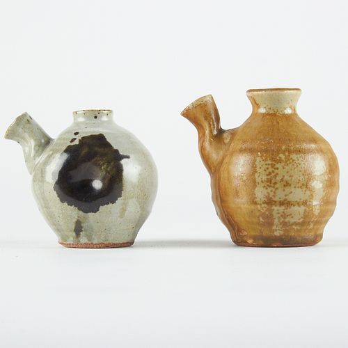 Pair of Warren MacKenzie Studio Ceramic Sauce Pitchers - Marked
