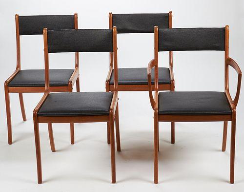 Set of 4 Ole Wanscher PJ Chairs Danish Mid-Century