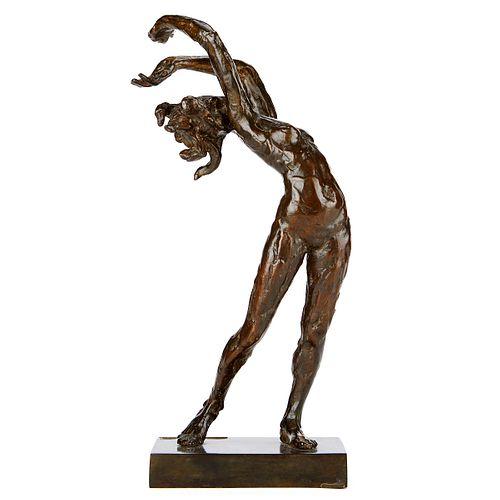 """Paul Granlund """"Half-Tryst"""" Bronze Sculpture 1984"""