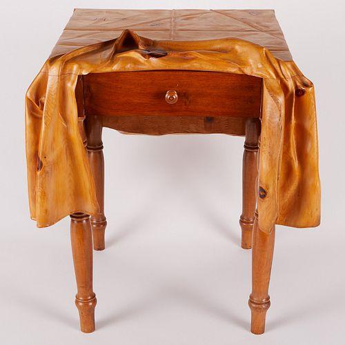Livio de Marchi Wooden Side Table