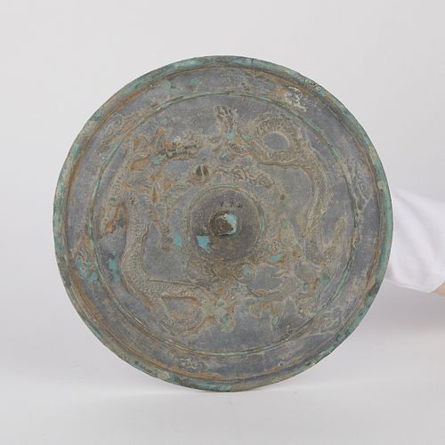 Large Chinese Liao Bronze Mirror