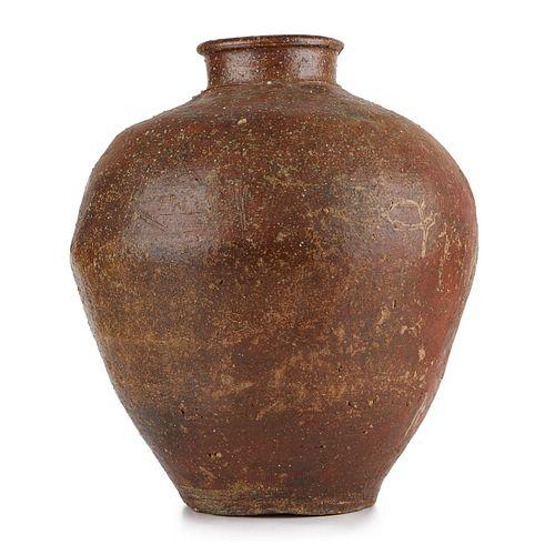 15th c. Japanese Shigaraki Vase Jar